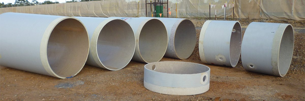 NovaFlo 500 GRP piping on construction site