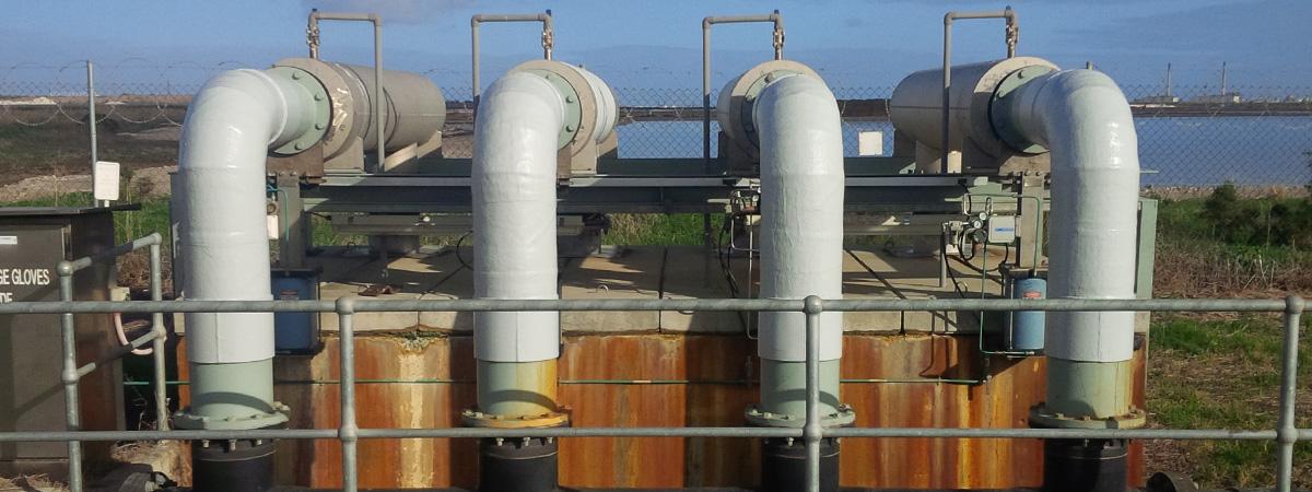 Novawrap applied to fiberglass pipe