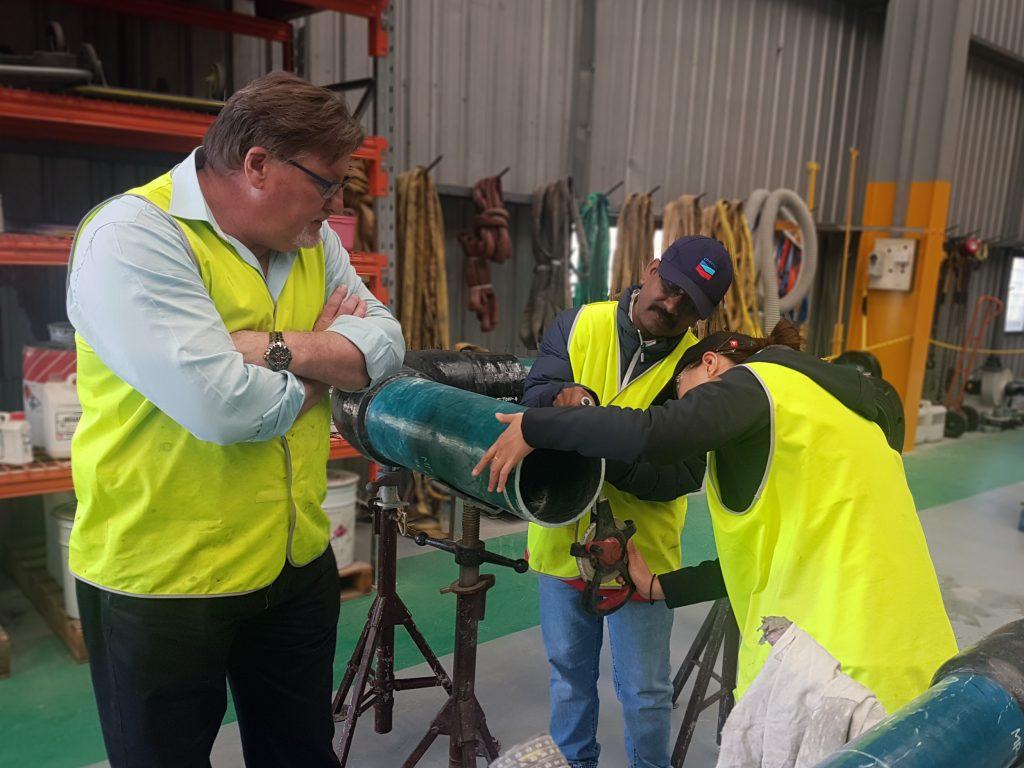 Novafast supervisor inspecting training