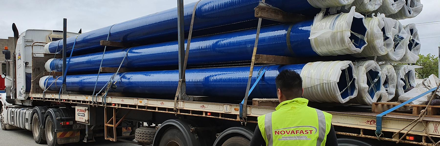 NovaBore truck transportation